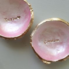 Personalized Ombré Jewelry Dish by ThePaintedPress on Etsy