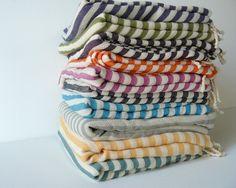 Striped Turkish Bath Towels. I repinned this from http://www.etsy.com/listing/76832876/turkish-bath-towel-commagene-peshtemal
