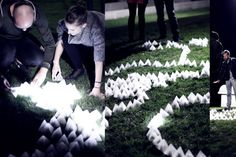 The rules of behaviour are simple – if the tetrahedron detects sudden change of light intensity (caused for example by casting shadow or poi...