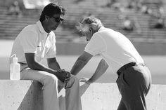 Rick Mears and Roger Penske in 1988