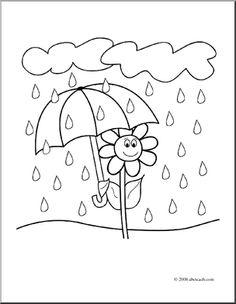 rain color page