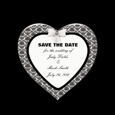 Damask Elegance Wedding Save The Date Stickers #weddings