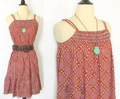 SALE TODAY ONLY Vintage 70s Floral Dressed with Smocked Neckline on Etsy, $24.00