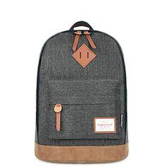 Vintage Denim Style Unisex Fashionable Casual School Travel Shoulder Backpack Bag with Laptop Compartment / (dark grey) Mochila Herschel, Herschel Backpack, Denim Backpack, Backpack Travel Bag, Rucksack Backpack, Laptop Backpack, Travel Bags, Fashion Backpack, Vintage Backpacks