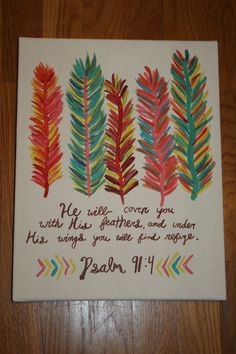 colorful feathers with Bible verse on Etsy - Google Search