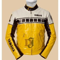 Get exclusive Yamaha Motorcycle Yellow Leather Racing Jacket For Sale at cheap and discounted rates on our online jacket Motorbike Jackets, Motorbike Leathers, Motorcycle Jacket, Biker Jackets, Custom Leather Jackets, Winter Leather Jackets, Motorcycle Leather, Biker Leather, Studded Leather Jacket