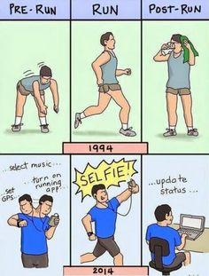 The evolution of running SO TRUE