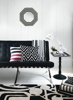 Pick a print so bold.  Play with tone, keep your palette monochrome.