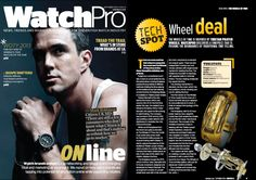 """#AOSWatches The Wheels of Time on the September issue of WatchPro Magazine. The Editor's words : """"Watchpro discovers a timepiece that is pushing the boundaries of traditional time telling."""" """"A watch that's bound to turn heads."""" Follow AOSWatches on Facebook : http://www.facebook.com/ArthurOskarStampfliLaNaissanceDunGardeTemps  http://www.facebook.com/AosWatches"""