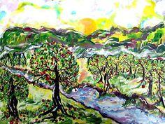 Apple tree painting.