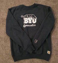 84bad12a Vintage Carhartt BYU University Gymnastics Embroidered Size medlrg crewneck  VTG #fashion #clothing #shoes