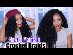 Maintenance - MY CROCHET BRAIDS ROUTINE   4 Tips on How to Maintain Crochet Braids - YouTube
