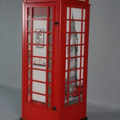 London Red Telephone box cabinet - Sofas beds furniture shop Oslo Norway