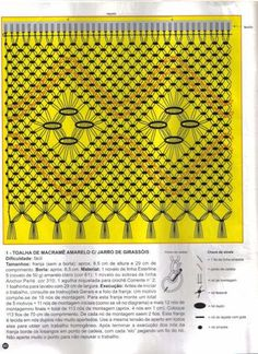 Arte em Macramê e Crochê: Toalha 2 cores de barrado em macrame Journaling, Wool Wall Hanging, Primitive Country Homes, Macrame Tutorial, Macrame Patterns, Creative Inspiration, Hand Weaving, Artsy, Craft