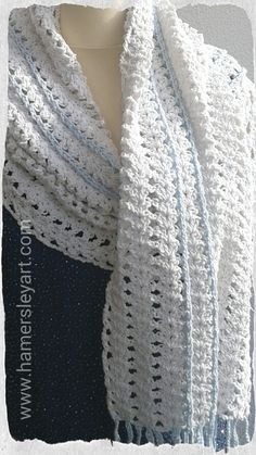 Ice white Lacey luxury Cotton wrap By www.hamersleyart.com Crochet available from the Coastguard Cultural Centre, Tramore.