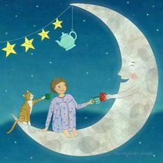 Recent illustrations available for license Illustrations, Book Illustration, Hey Diddle Diddle, Good Night Moon, Moon Magic, Sun And Stars, Beautiful Moon, Moon Art, Sun Moon