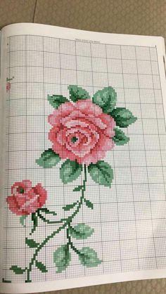 S ❤ Cross Stitch Cards, Cross Stitch Rose, Stitch 2, Cross Stitch Flowers, Cross Stitch Patterns, Needlepoint, Embroidery, Goblin, Projects