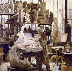 """Sculptor,"" Édouard Joseph Dantan (1848 - 1897)"