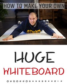 Step by step instructions for how to make your own huge 4 foot by 8 foot whiteboard for about $20 - it's been a FAVORITE resource in our school room!