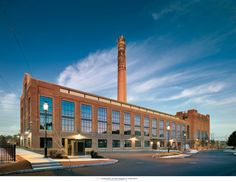 An Industrial Rebirth: The power plant of an abandoned asbestos factory is recycled into a clean-and-green office development.
