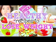 Easy + Healthy Recipes to Lose Weight! -  Breakfast + Salad with chicken + Salmon