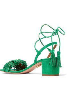 Aquazzura   Wild Thing fringed suede sandals   NET-A-PORTER.COM