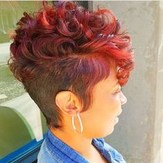 Afro American Short Hairstyles African american Pinner 40 African American s Short Sassy Hair, Short Hair Cuts, Black Short Cuts, Pixie Cuts, Love Hair, Gorgeous Hair, Amazing Hair, Curly Hair Styles, Natural Hair Styles