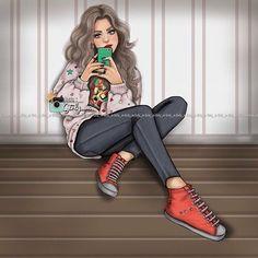 girly_m, drawing, and art image Cartoon Girl Images, Cartoon Pics, Girl Cartoon, Girly M, Girly Girl, Chica Cool, Cute Girl Drawing, Girly Drawings, Cute Girl Wallpaper
