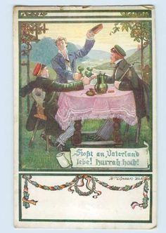 W9E05 Deutscher Weltbund Studenten Studentika Künstler AK CA 1914 | eBay