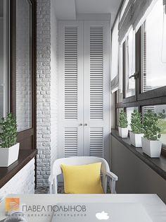 Фото: Дизайн лоджии - Интерьер квартиры в стиле легкой классики, ЖК «Академ-Парк», 68 кв.м.