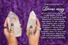 Infuse ancient knowledge and cosmic understanding into your sacred practice with Athena's Lemurian Devic Temple crystals.