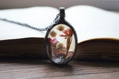 terrarium necklace specimen necklace real flowers by ZokaKurylov