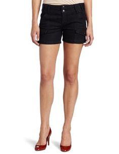 Calvin Klein Jeans Women's Rinse Denim Short Calvin Klein Jeans. $29.63. Machine Wash. Made in China. Front and back flap pockets. unknown. 99% cotton/1% elastane. Features two button waistband with belt loops