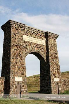 Roosevelt Arch -- North entrance of Yellowstone National Park -- Gardiner, Montana.