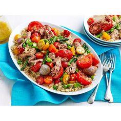 Quinoa and Tuna Salad Recipe with Roasted Tomatoes recipe   Food To Love