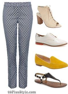 ankle pants best shoes booties flats sandals | 40plusstyle.com