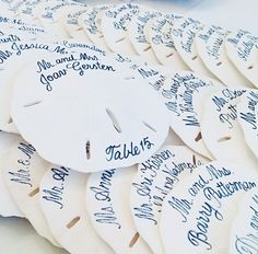 Cute idea for beach themed wedding