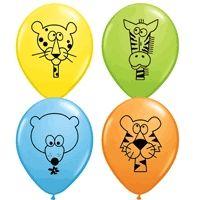 Jungle Animal Balloons 11 Inch ~ Latex~25