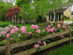 I want something similar... a rustic fence with peonies