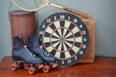 $49.90  Vintage Dart Board  Sports Decor - Retro Decor  - Sports Bar Sports Restaurant Decor  - Boho Decor - Mancave Decor - I Ship Worldwide by bluefolkhome on Etsy