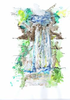 Waterval in Zuid-Frankrijk.