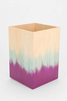 Striped Plywood Trashcan- seems like something you could diy
