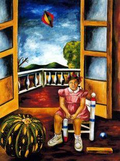 la niña indiferente 1947   Maria Izquierdo   esta es una pintura que nos representa una critica la saciedad machista de esos tiempos.