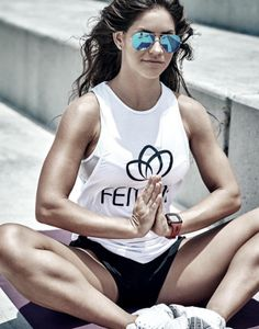 Find your inner peace with full comfort :: Our girl in our Femme Muscle Tee :: SHOP with AFTERPAY. Muscle Tees, Our Girl, Inner Peace, Monochrome, Tank Tops, Shopping, Collection, Women, Fashion