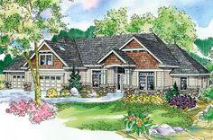 Cottage Craftsman European Ranch House Plan 59721