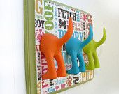 DogTail Leash Holder - Triple Dogcentric - Personalize It Optional Letter Tiles