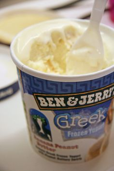 ben & jerry's frozen greek yogurt. (Sweet treat that's Yummy!!)