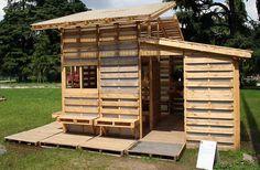 A casa construida com pallets