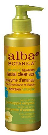 Alba Botanica Pineapple Enzyme Facial Cleanser, 8-Ounce Bottle (Pack of 2)