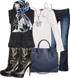 """Snowflakes"" by corenna-obrien ❤ liked on Polyvore"